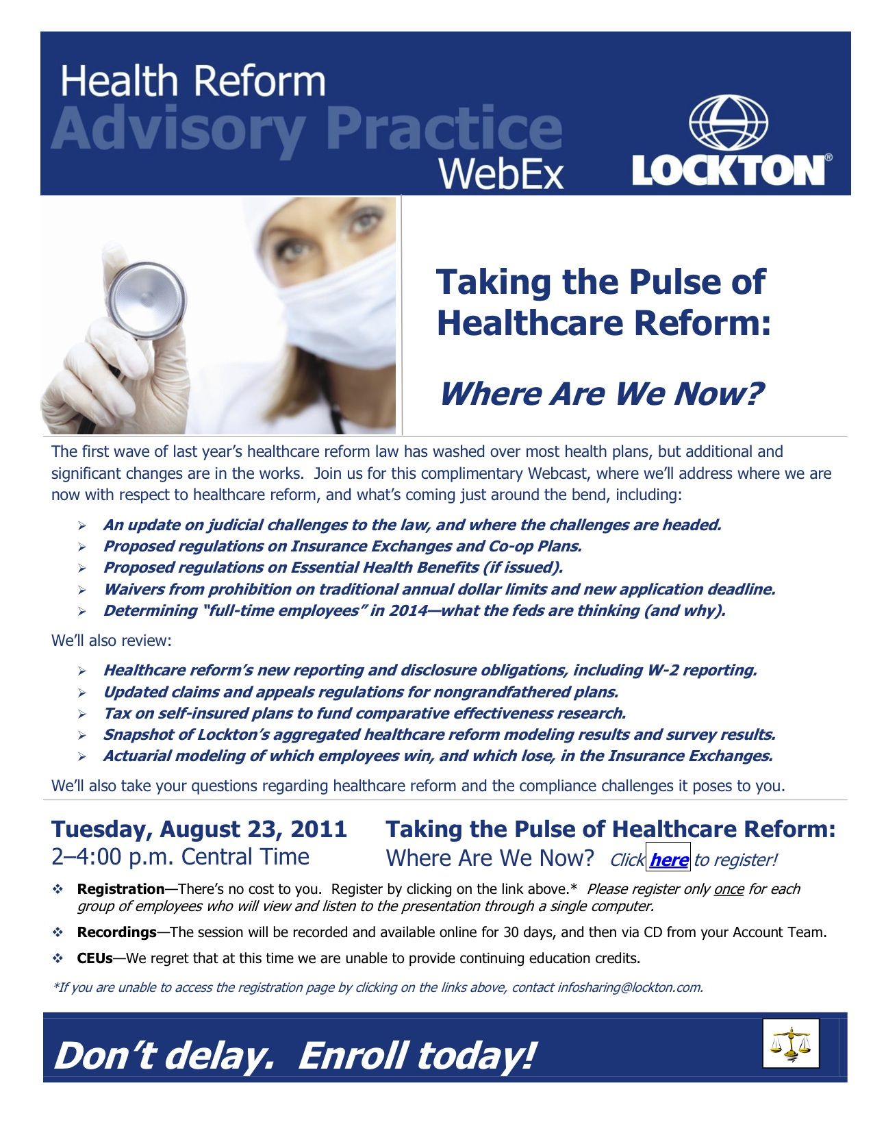 Webinar Invitation The Pulse of Healthcare Reform The Benefit Blog